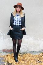 Sheinsidecom skirt - Pimkie coat - H&M hat