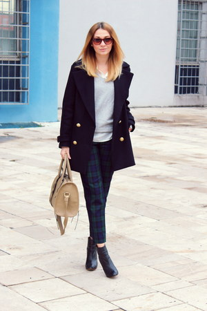 Zara boots - Zara coat - F&F pants