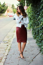 New Yorker jacket - Zara shoes - Sheinside top - New Yorker skirt