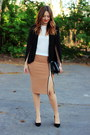 Ebay-shoes-sheinside-blazer-zara-skirt-pimkie-top