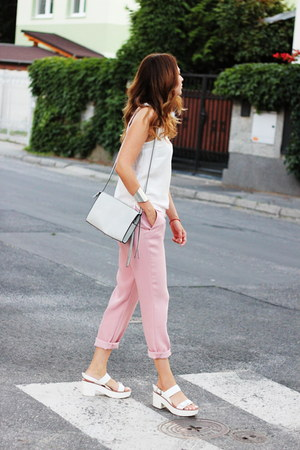 Stradivarius shoes - Zara pants - Pimkie top