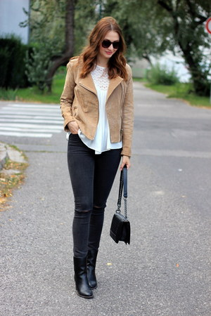 Mango jacket - asos boots - Mango blouse