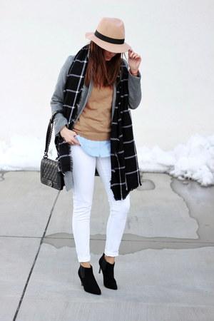 Sheinside coat - ankle asos shoes - Primark jeans - OASAP hat - Zara sweater