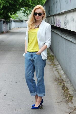 Zara shoes - Levis vintage jeans - Mango blazer - Zara top