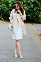 Zara shoes - Sheinside coat - H&M bag - Zara skirt - Pimkie top