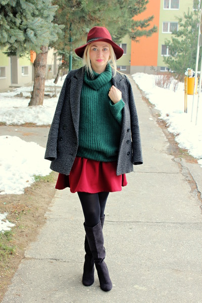 H-m-boots-h-m-hat-roll-neck-asos-sweater-stradivarius-skirt