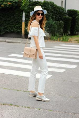 Zara pants - F&F shoes - Gate hat - Mango bag - Zara top