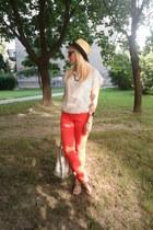 H&M jeans - Takko fashion bag - no brand sandals - vintage top