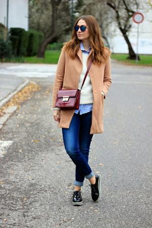 F&F bag - OASAP shoes - Oasapcom coat - Zara jeans