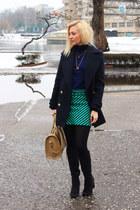 Zara skirt - H&M boots - Zara coat - yeswalkercom bag
