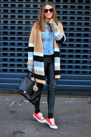 F&F cardigan - Converse shoes - H&M jacket - Primark leggings