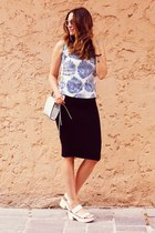sammydress top - Stradivarius shoes - H&M bag - Stradivarius skirt