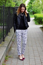 Zara shoes - reserved jacket - Mango top - Sheinsidecom pants