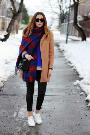 OASAP coat - asos shoes - H&M scarf