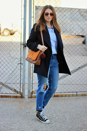 H&M bag - Zara coat - H&M jeans