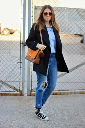 H&M bag - Zara coat - H&M jeans