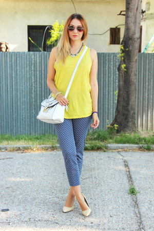 Zara top - Mango shoes - asos bag - F&F pants - H&M necklace