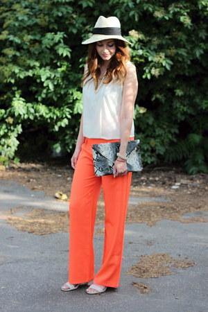 palazzo Dressgal pants - Primark hat - clutch Dressgal bag - asos sandals
