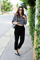 crop top New Yorker top - Pimkie shoes - Ebay bag - H&M pants
