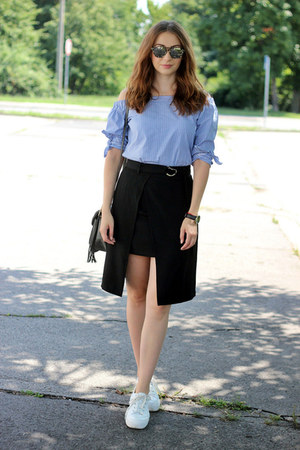 asymmetrical sammydress skirt - GAMISS bag - asos sneakers - sammydress watch