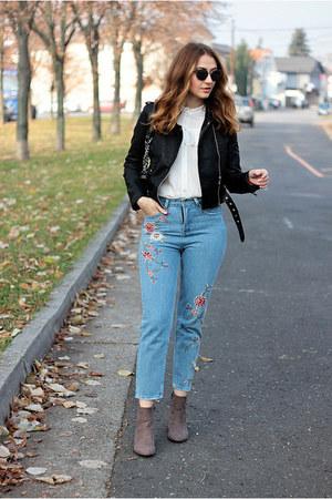 Zara boots - dresslily jeans - zaful jacket
