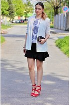 sammydress top - Newlook shoes - Mango blazer - Zara skirt