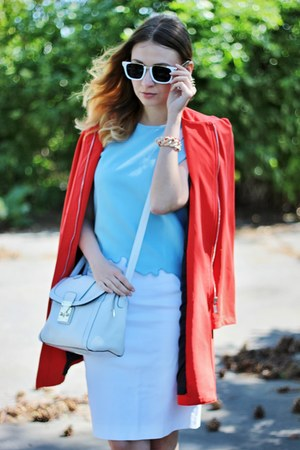 Mango shoes - asos bag - Oasapcom sunglasses - Oasapcom top - Zara skirt
