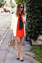 Sheinside coat - OASAP shoes - vintage scarf
