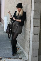 Forever21 dress - Newlook boots - Terranova blazer - asos bag