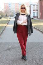 Pimkie coat - Zara boots - H&M shirt - asos pants