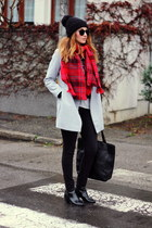 OASAP coat - ankle Zara boots - OASAP sweater - H&M scarf