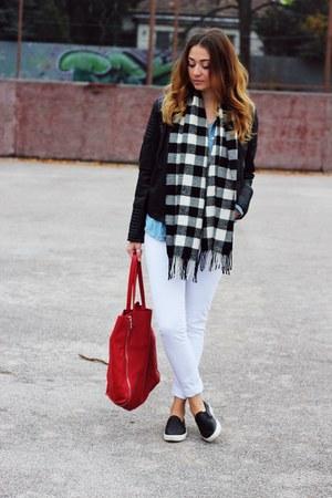 no brand scarf - asos shoes - Mango bag