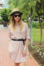 Zara-dress-h-m-hat-reserved-belt-asos-sandals