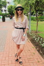 Zara-dress-h-m-hat-reserved-belt-asos-sandals