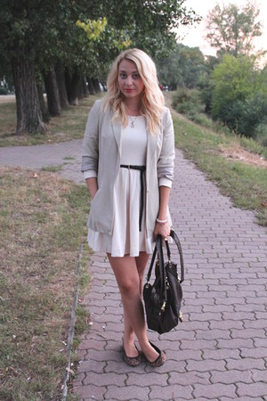 H&M dress - Zara blazer - asos bag - H&M flats