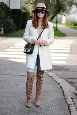 Zara jeans - Nellycom shoes - OASAP coat - OASAP hat - Zara accessories