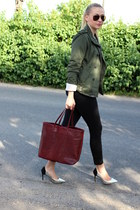 Dorothy Perkins shoes - vintage jacket - Mango bag - H&M pants