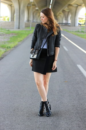 Zara bag - ankle asos boots - SOliver jacket - Zara skirt