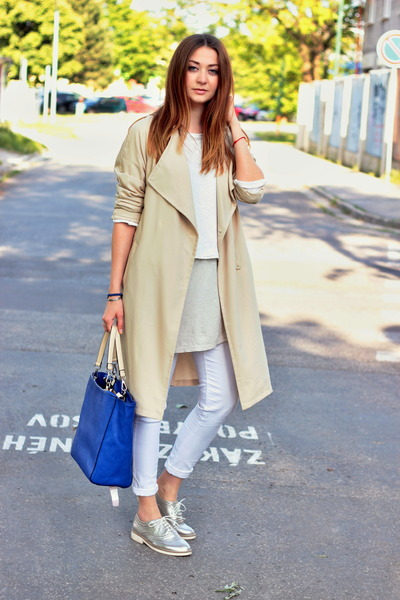 fee769576377 Zara sweater - brogue F&F shoes - trench H&M coat - Primark jeans ...