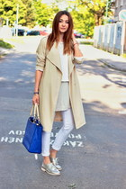 Zara sweater - brogue F&F shoes - trench H&M coat - Primark jeans - Zara bag