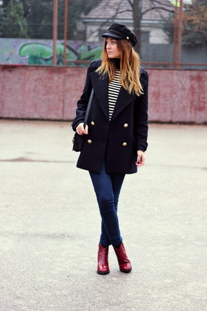 Zara coat - ankle OASAP boots - turtleneck Mango sweater