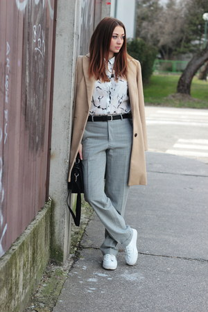 F&F coat - OASAP shirt - New Yorker bag - asos sneakers - vintage pants