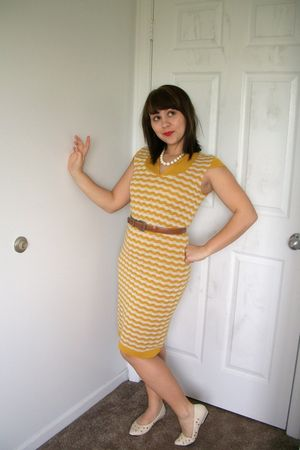 gold Tulle dress - white inherited from Gma shoes - brown Goodwill belt - white