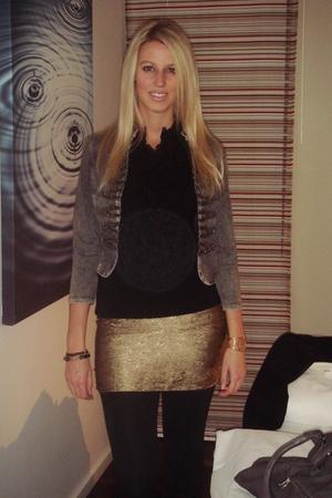 H&M skirt - Lipsy top - H&Mm blazer