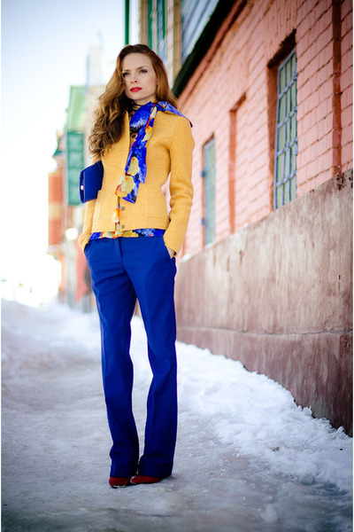blue wwwtailor4lesscom pants - gold Marika jacket