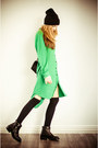 Green-front-row-shop-dress-black-front-row-shop-necklace