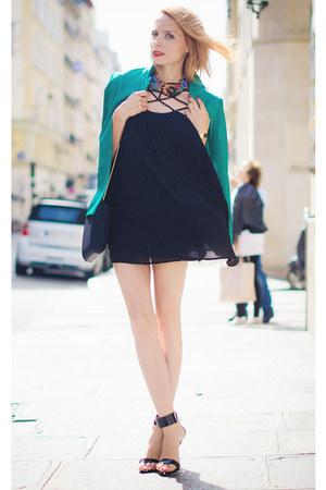 Sheinside dress - my dising blazer - Zara necklace