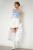 sky blue by tini-tani top - off white OASAP skirt