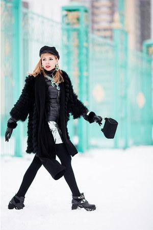 silver Love Republic dress - black Love Republic coat
