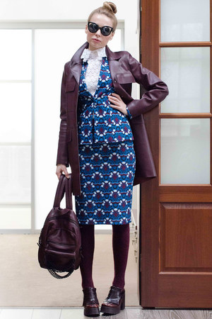 Serginetti skirt - kord optika glasses - Serginetti cardigan